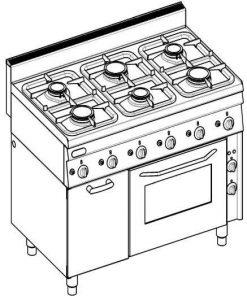Sporáky a varidlá Plynové TECNO 650