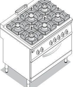 Sporáky a varidlá Plynové TECNO 900